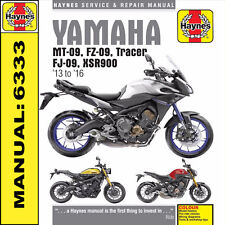 Yamaha MT-09 MT09 Tracer and XSR900 2013 - 2016 Haynes Manual 6333 NEW