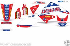 Graphic Kit Honda CR125 CR250 Dirt Decal Backgrounds Sticker CR 125/250 02-03 LO