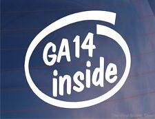 GA14 INSIDE Novelty Car/Window/Bumper Sticker - Ideal for Nissan Almera/Sunny