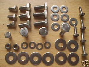 MG MGTF MGF STAINLESS  STEEL  UNDER BONNET HEX BOLTS SCREWS  KIT 2 +