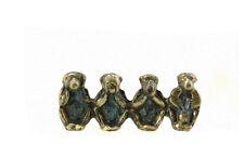 3 Singes de la Sagesse grec 10cm en bronze - figurine des 4 singes coquins 3667