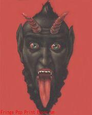 Krampus Art Print 8 x 10 - Christmas Devil - Satan - Folklore - Goth - Horror