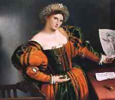 A3 Box Canvas Lotto Lorenzo Portrait of a lady with a picture of the suicide of