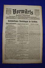 VORWÄRTS (22. Oktober 1915): Geschlossenes Vordringen in Serbien