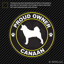 Proud Owner Canaan Sticker Decal Self Adhesive Vinyl dog canine pet