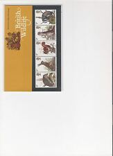 1977 ROYAL MAIL PRESENTATION PACK BRITISH WILDLIFE MINT DECIMAL STAMPS