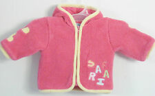 POOPIDOO Girls Size 0-3 Months Pink Fleece Fully-Lined Hoody Jacket