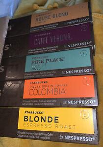 Starbucks Nespresso 50 Capsules Original Verona Blonde Pike House Columbia 8/21