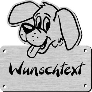 Namensschild mit Wunschtext und Motiv, Gravur für Hundehütte, Hundehaus 2017 1