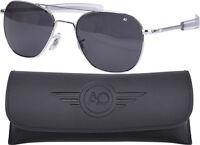 AO Eyewear Polarized Chrome 55mm Air Force Pilots Sunglasses Aviators