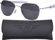 AO Eyewear Polarized Chrome 55mm Air Force Pilots Sunglasses Aviators