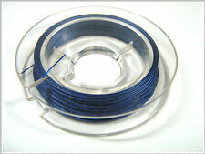 10m Schmuckdraht nylonummantelt dunkelblau 0,38mm
