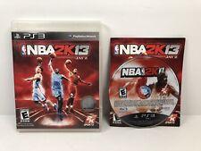 NBA 2K13 - Playstation 3 PS3 Free Shipping With Manual