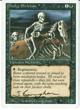 MAGIC THE GATHERING REVISED DRUDGE SKELETONS SIGNED BY SANDRA EVERINGHAM