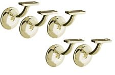 5 pcs BRASS Stair Banister Railing/Handrail Support Mount Brackets with screws