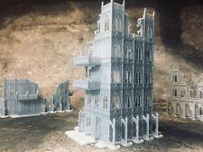 8mm Large Gothic Skyscraper Ruin - Epic Adeptus Titanicus Terrain