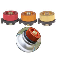 Camping Stove Butane Gas Metal Adapter Convert Fuel Canister E&F