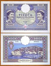 Republic of Ragusa Dubrovnik 1000 Din, 2019 Private issue, UNC > Large