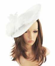 White Fascinator Hat For Weddings/Ascot Kentucky Derby Q2