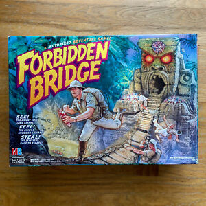 Rare Forbidden Bridge Motorized Adventure Game Milton Bradley for parts 1992