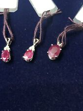 14kt Gold Genuine Ruby Pendant