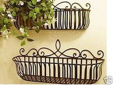 Wrought Iron French Style Wall Flower Pot Plant Holder Window Box Large ONLY 01