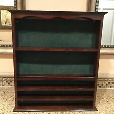 Wooden Golf Ball Display Case Wall Cabinet - Bombay Company Photo Trophy Placque