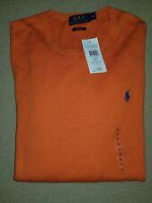 100% GENUINE RALPH LAUREN Pima cotton  JUMPER Orange XL