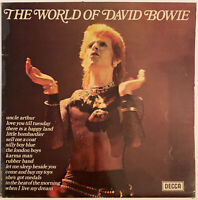 DAVID BOWIE THE WORLD OF DAVID BOWIE LP DECCA UK 1970 PRO CLEANED EX CONDITION