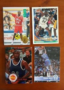 LOT of 4 Isaiah Rider ALL DIFF basketball cards w/ rookies