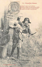 CPA - Bergeret - Première Chasse - 2