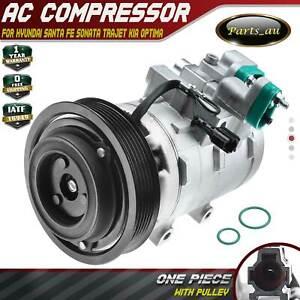 A/C AC Compressor for Hyundai Santa Fe SM Sonata EF Trajet Kia Optima Sportage