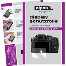 6x dipos Panasonic Lumix DMC FZ200 Schutzfolie klar Displayschutzfolie Folie
