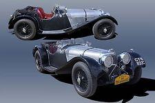 Jaguar SS100 Vintage Classic Race Car Photo Print CA-0968