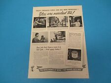 1943 Print Ad, Pond's Cold Cream, more women use Pond's, war workers, PA016