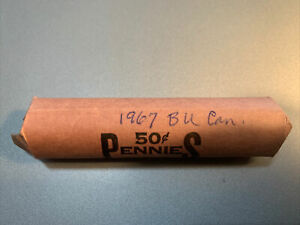 1967 Canada BU Roll Of Cents
