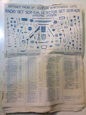WW2 Walkie Talkie Radio SCR-536 BC-611 Tech Parts List SCR-625 Airborne Poster