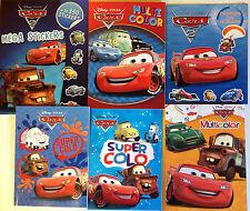 LOT 6 COLORIAGES JEUX ACTIVITES CARS DISNEY avec stickers coloriage CARS 2
