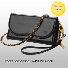 Samsung Galaxy S7, Edge Genuine Leather Card Cash Slot Wallet Case Pouch Handbag