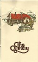 THE CANNERY Restaurant Menu Vancouver Canada