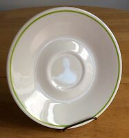 """8 Corelle Corning Saucers Green Edge Stripe Wildflowers Spring Meadow 6 1/4"""" EXC"""