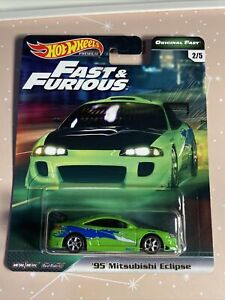 Hot Wheels Fast & Furious Original Fast '95 Mitsubishi Eclipse (cracked Blister)