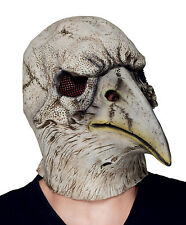 MENS EAGLE SKULL CROW BLACK DEATH MASK MEDIEVAL OVERHEAD LATEX COSTUME MASKE NEW