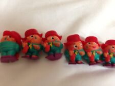 6 Kinder Ferrero Suprise Egg Toys from Germany 6 Red Hat Boy Carrying Fish 90's
