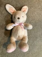 Carters Just One You Tan White & Pink Bunny Rabbit Plush Toy Lovey Rattle