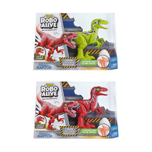 New Robo Alive Rampaging Raptor Dinosaur Toy - Assorted Realistic Movement M1..