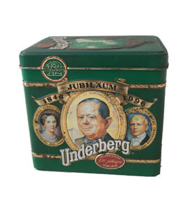 Rare Underberg Collection Edition Tin 1996 EMPTY 150 Year Anniversary Jubilee