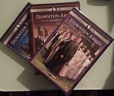 pbs  DOWNTON ABBEY season 1 2 3   DVD LOT NEW