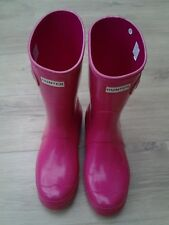 Hunter Original Short Gloss Wellies Ladies Size 5 (EU 38) In Bright Cerise