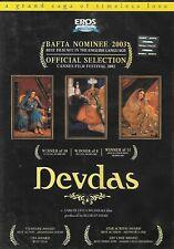 DEVDAS - SHAHRUKH KHAN - MADHURI DIXIT - EROS BOLLYWOOD DVD - ENGLISH SUBTITLES